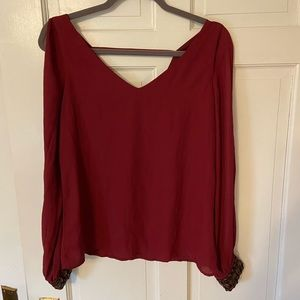 Maroon Fancy Blouse